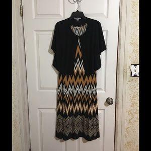 Aztec print Danny & Nicole dress